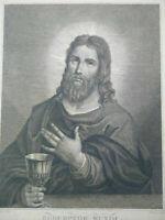 Grande gravure Jésus Christ Redemptor Mundi Titien & Lambert grand format