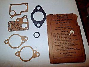 Partial Studebaker 6 Champion Carb Kit, NOS