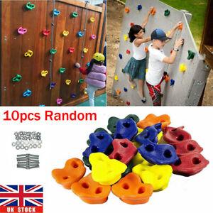 10Pc Climbing Stones Children Plastic Holds Grips Kids Indoor Rock Climbing Wall