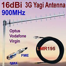 16dBi 900MHz 3G GSM Yagi Antenna OPTUS VIRGIN VODAFONE FME+SMA 7m Low Loss Coax