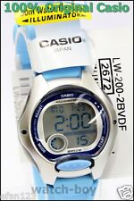 Lw-200-2b Children's 100 Genuine Casio Watch 10 Year Battery Lift 50m LED Light