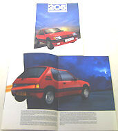 Peugeot 205 GTi 1.6 Original 1986-87 UK Sales Brochure Pub. No. IC597