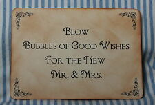 BUBBLES SIGN-Wedding-Vintage Style-Unique-Handmade for You