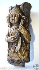 Scottish Edwardian Angel Lute carving Musical Scotland
