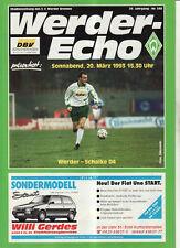 BL 92/93 SV Werder Bremen - FC Schalke 04