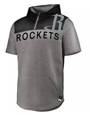New NWT Houston Rockets S/S Hoodie Warmup Shirt Mens Size M Medium