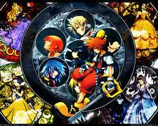 Kingdom Hearts Boy 1 2 Game Fabric Art Cloth Poster 17inch x 13inch Decor 31