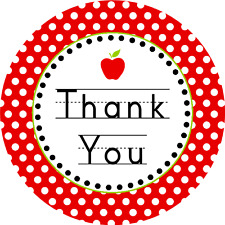 """THANK YOU- 30 x 40mm/1.5"""" MIXED Rice Paper Cup Cake Toppers D1 TEACHER TERM"""