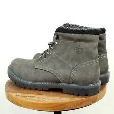 RIEKER Gr. 41 Stiefeletten Boots LEDER Herren Schuhe Grau R48