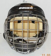 Bauer Hh3000S Ice hockey Black Helmet with Fm4000 S Face mask Size Small