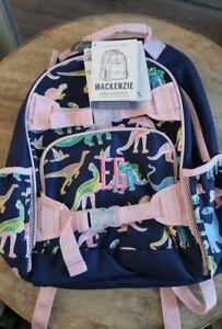 Girls NWT Pottery Barn glow in the dark Mackenzie backpack, dinosaur print L
