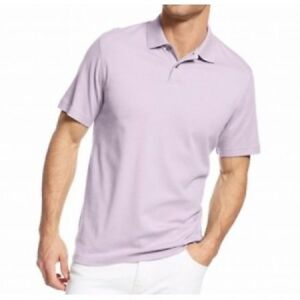 Tasso Elba Men's Signature Polo Shirt Sz S Amethyst Heather Purple Cotton Polo