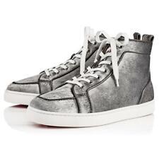 5a19e9d8db5 Christian Louboutin Men Rantus Orlato Flat Silver Pony Metal High Top  Sneaker 46
