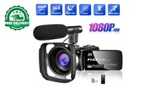 Video Camera 1080P Camcorder Full HD 30FPS 24MP Vlogging Camera for YouTube