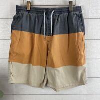 Rip Curl Tripper Shorts Men's Size Large Stripped Board Shorts Elastic Waist