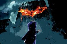 "Joker Batman Movie Dark Knight 17"" x 11"" Large Wall Poster Print Fan Art Anime"