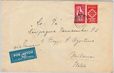 PORTUGAL  -  POSTAL HISTORY : AIRMAIL Cover to ITALY 25.06.1940 - ALA LITORIA