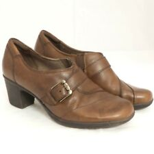960b095413a5 Earth Origins Margaret Booties Ankle Boots 9.5 Womens Brown Buckle Leather