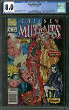 New Mutants #98 Newsstand Edition CGC 8.0 (W) 1st Appearance of Deadpool