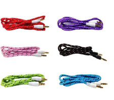 3FT 3.5mm Male to Male AUX Auxiliary Braided Cable Stereo Audio Adapters Cord