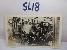 VINTAGE 1920'S US NAVY PICTURE POSTCARD SUBMARINE SUB ENGINE ROOM UNUSED RARE