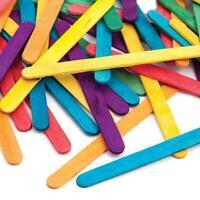 Coloured Wooden Lolly Sticks Lollipop Craft Stick Lolly Pop Kids Arts & Crafts