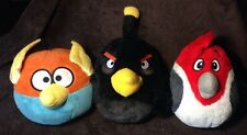 Lot of 3 Rovio Angry Birds Blue Space Lightening Black Bomb W/ Sound & Red Rio