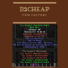 Tal Rasha's Fine-Spun Cloth Belt - Diablo 2 Europe / East / West Ladder & NON