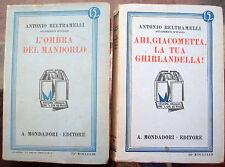 1) 1931 LOTTO DI DUE OPERE ANTONIO BELTRAMELLI DA FORLI'. LETTERATURA ITALIANA