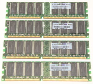 HP 2GB DDR-400 PC3200 Memory Kit (4x 512MB SD-RAM) Hewlett-Packard PN 326668-041