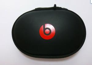 Genuine Beats By Dr Dre Hard Shell Case Black Red For  EarPhones Headphones