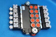 HYDRAULIC BANK MOTOR 5 SPOOL VALVES 80 L/MIN ELECTRIC 12V + INSTRUCTION