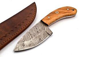 Custom made Damascus Hunting Knife 15n20 /1095 High Carbon Steel FF597
