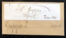 Antique French LOUIS GREPPO Signed Autograph POLITICIAN Paris France