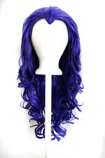 """25"""" Curly Layered Cut with Widow's Peak and no Bangs Amethyst Purple Wig NEW"""