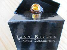 Joan Rivers Tortoise Shell Ring w/Amber Crystal Stone Size 7 - Original Box