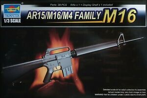 TRUMPETER® 01901 AR15/M16/M4 Family M16 in 1:3