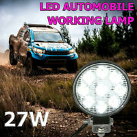 27W 9LED Work Light Bar 1620LM 6500K White Round Car Auto Truck Mini Spotlight