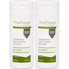 2 x Perspi-Guard Antibacterial Odour Control Shower Gel Cleansing 200ml Bodywash