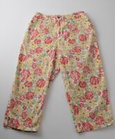 Jones New York Size 10 Hawaiian Floral Print Stretch Capri Crop Pants 29x20