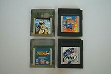 Nintendo Game Boy~Lot of 4~NHL 2000, Hot Wheels, Spiderman2, Test Drive Cycles