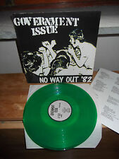 "GOVERNMENT ISSUE ""No Way Out '82"" LP LOST AND FOUN REC 1990 GREEN VINYL - INSERT"