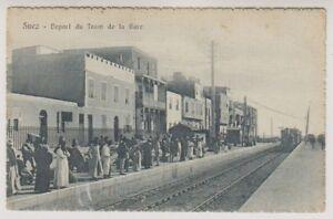Ägypten Postkarte - Suez, Depart Du Straßenbahn De La Gare (A40)