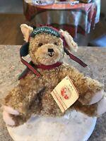 """2002 Hallmark Buddy Hollyday Dog Stuffed Plush Puppy Christmas Dog With Tag 9"""""""