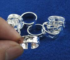 Wholesale Lots 10pcs Silver Fashion Women Footprint Toe Rings Adjustable Jewelry