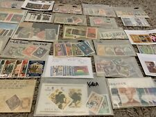 MINT WW STAMPS LOT OF SETS AND SHORT SETS IN GLASSINES. NO UNITED STATES
