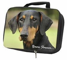 """Doberman Pinscher Dog """"Yours Forever..."""" Black Insulated School Lunch, AD-D2yLBB"""