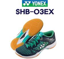 Yonex Badminton Shoes SHB03EX Power Cushion EVA TPU Free Track #  Navy+Turquoise