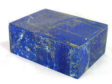 """BUTW Hand Crafted Afghan Lapis Lazuli 3 7/8 """" Jewelry Box Gorgeous Color 1303K"""