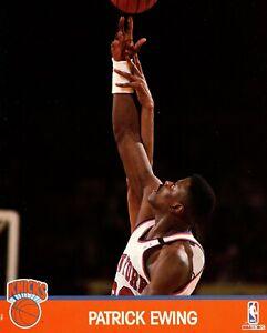 Patrick Ewing New York Knicks 1991 NBA Hoops 8x10 Glossy Cardstock Photo